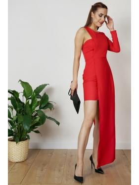 Tek Kol Tasarım Elbise
