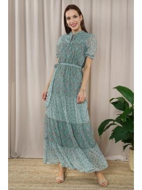 Çağla Kuşaklı Elbise