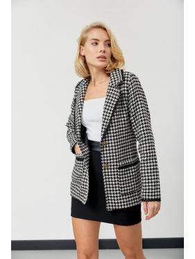 Dantel Detay Kazayağı Kaşe Ceket
