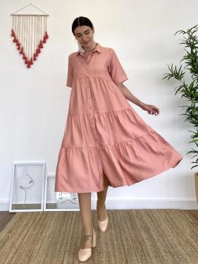 Katkat Pudra Gömlek Elbise