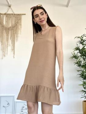 Kahverengi Basic Elbise
