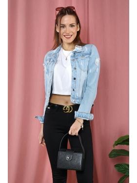 Yırtık Jeans Ceket