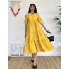Katkat Sarı Gömlek Elbise