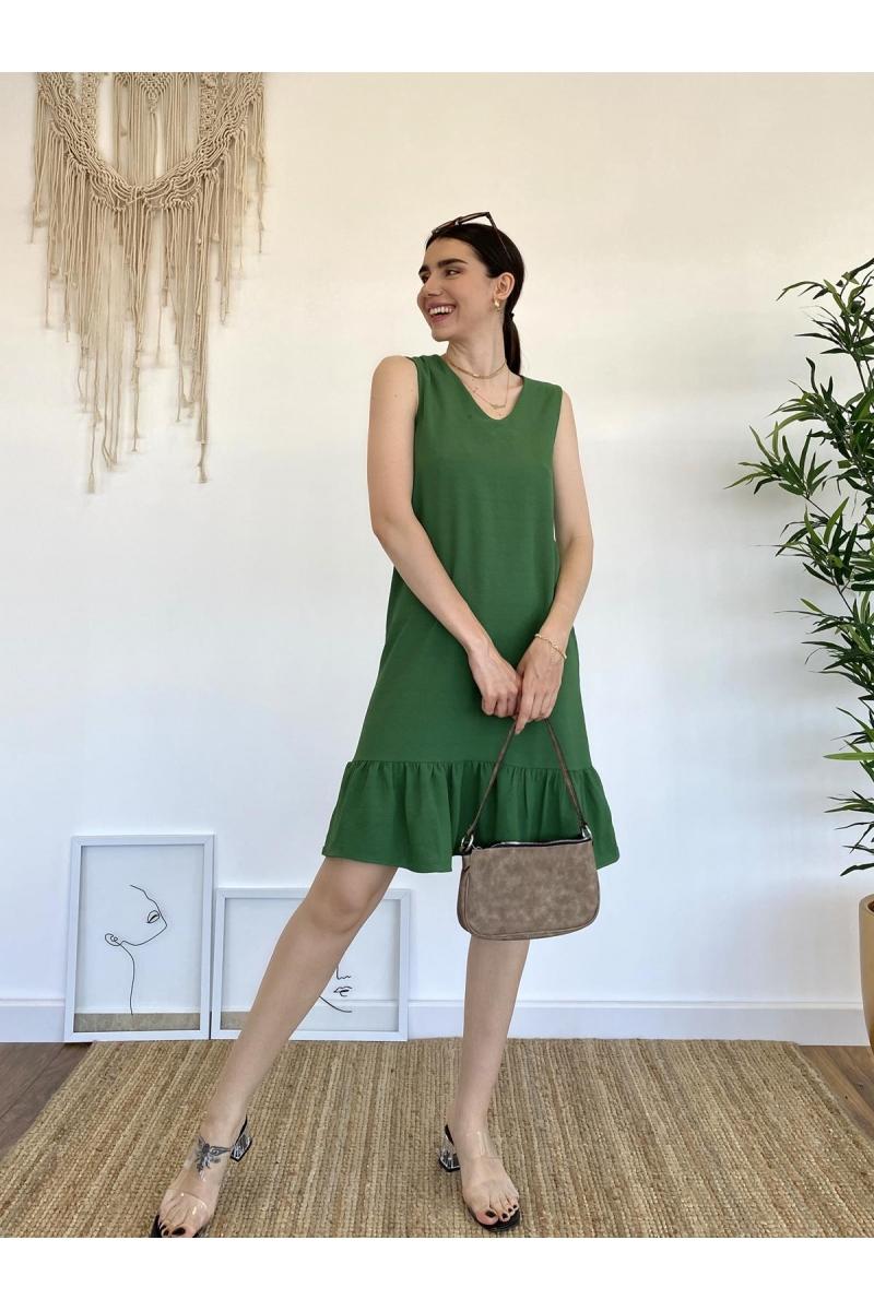 Yeşil Basic Elbise