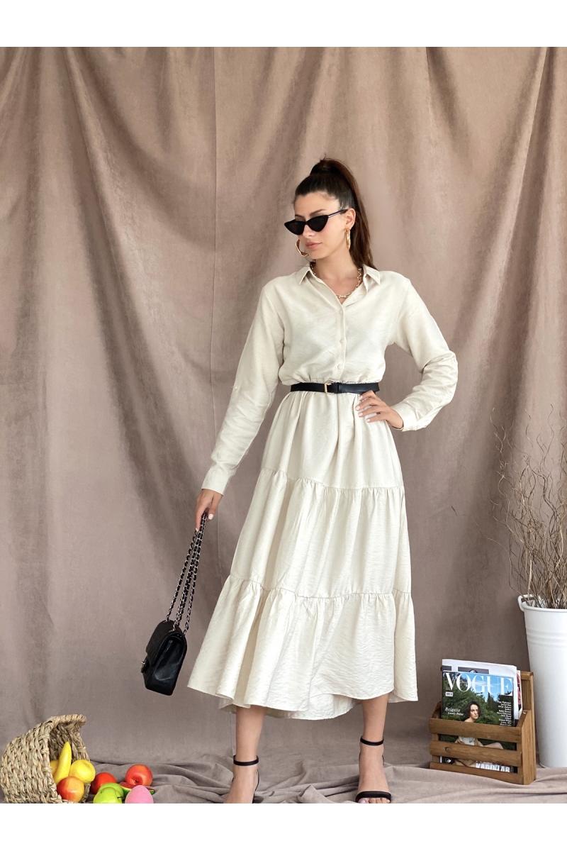 Yarım Patlı Uzun Taş Elbise